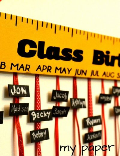 DIY Teacher Appreciation Gift_ Class Birthday Board