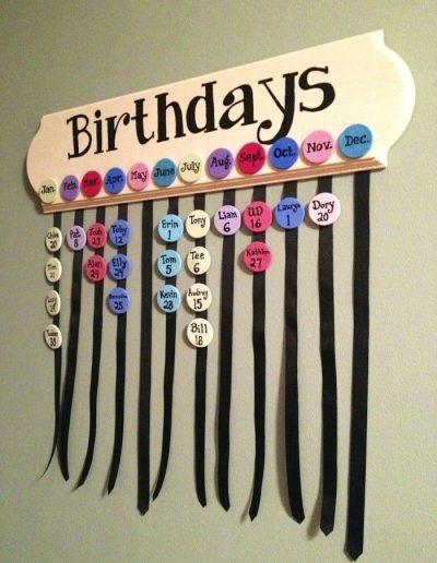 Geburtstagskalender basteln, denn es darf keinen Geburtstag vergessen werden birthday calendar craft